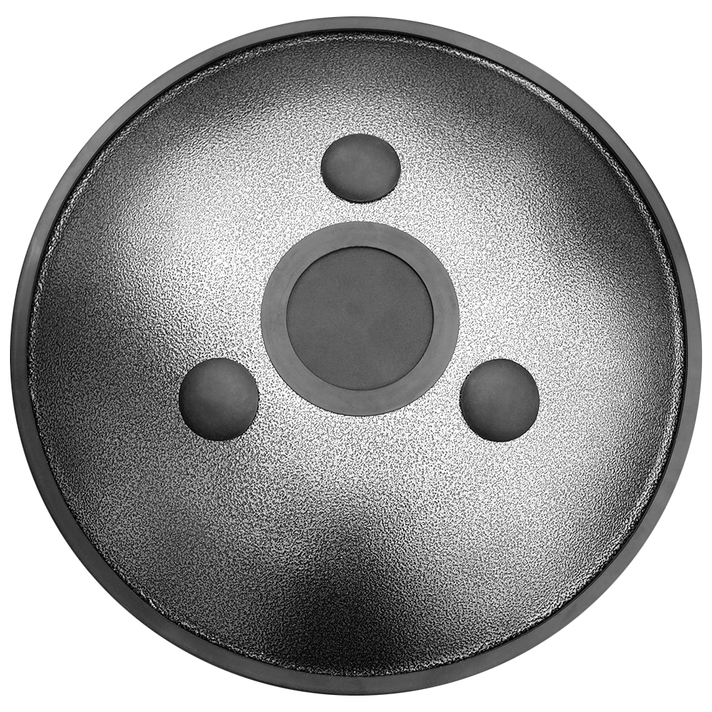 HAPI Steel Tongue Drum Omni Silver Bottom