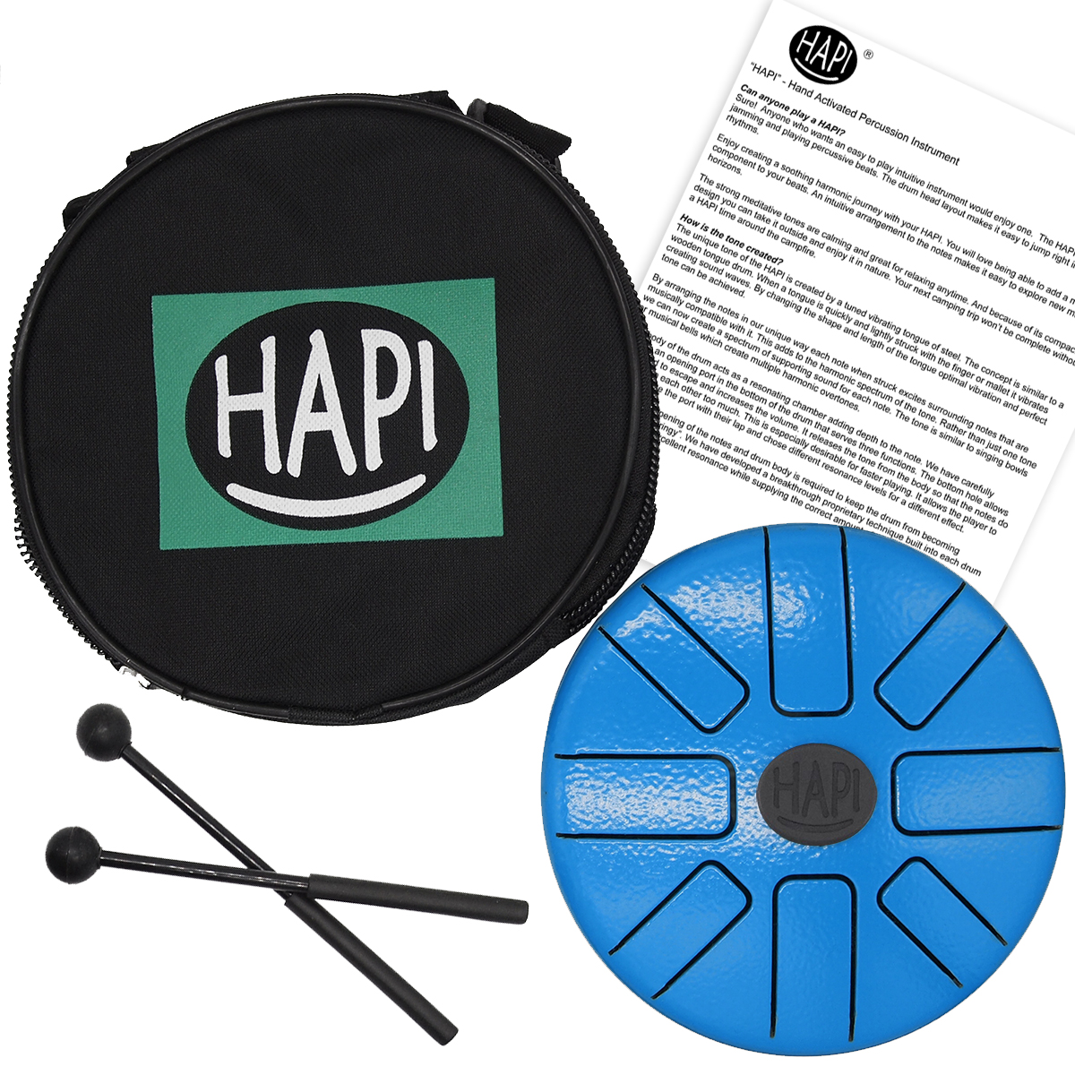HAPI Steel Tongue Drum Play Along Tini Accessories