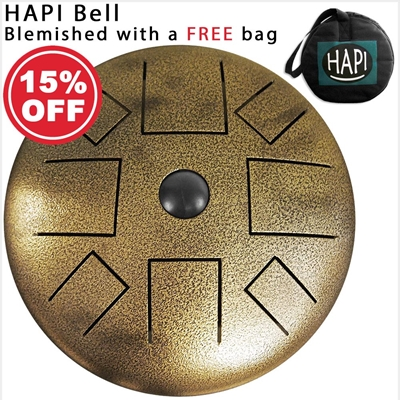 HAPI Steel Tongue Drum Bell Top